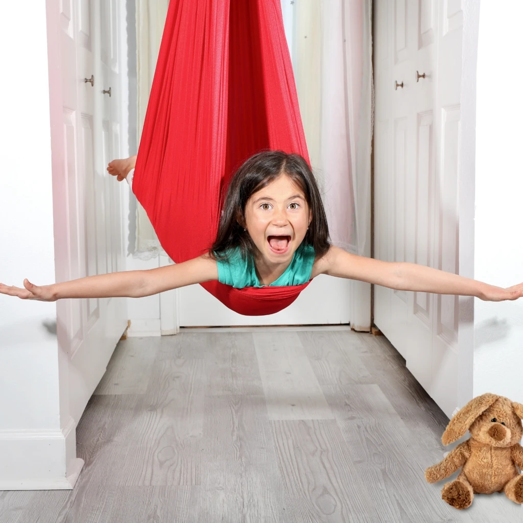 Kids Cotton Outdoor Indoor Swing Hammock for Cuddle Up To Sensory Child Therapy Swing Soft Elastic Parcel Steady Dropshipping