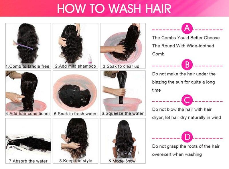 Perucas do cabelo humano da onda do