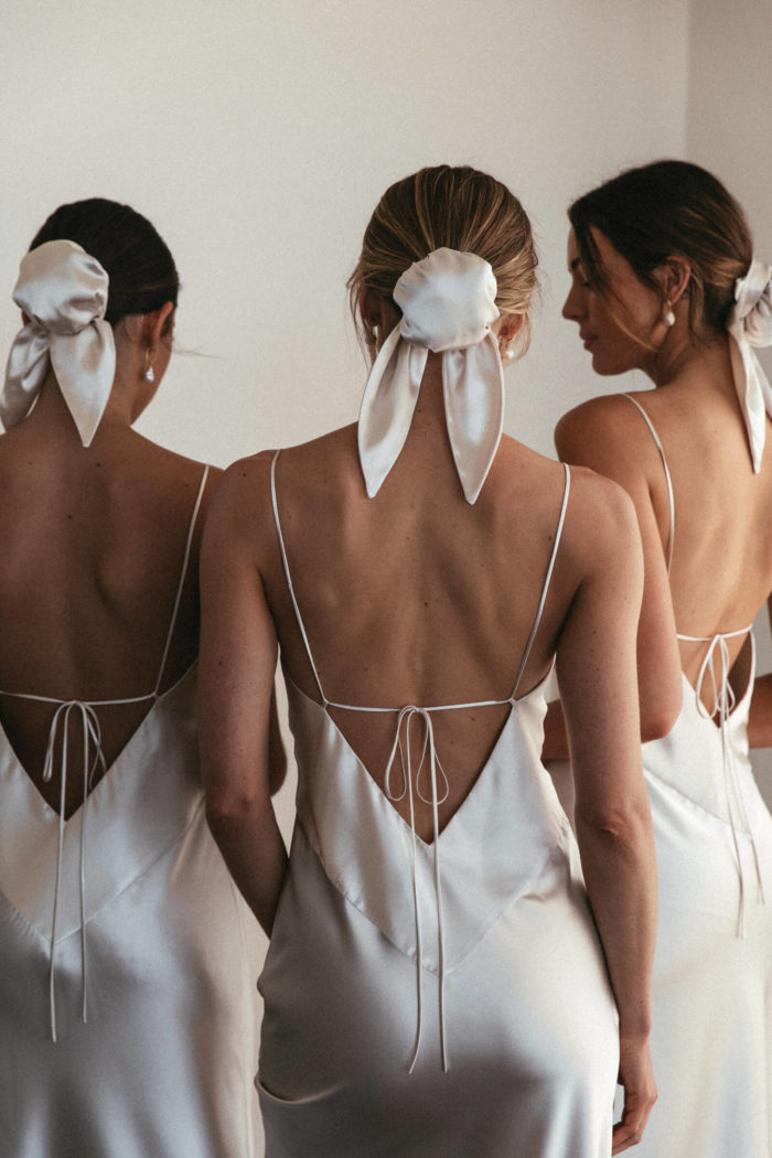 Vestido De Festa Spaghetti Straps Bridesmaid Dresses 2020 V-Neck Satin BacklessRobe Demoiselle D'Honneur