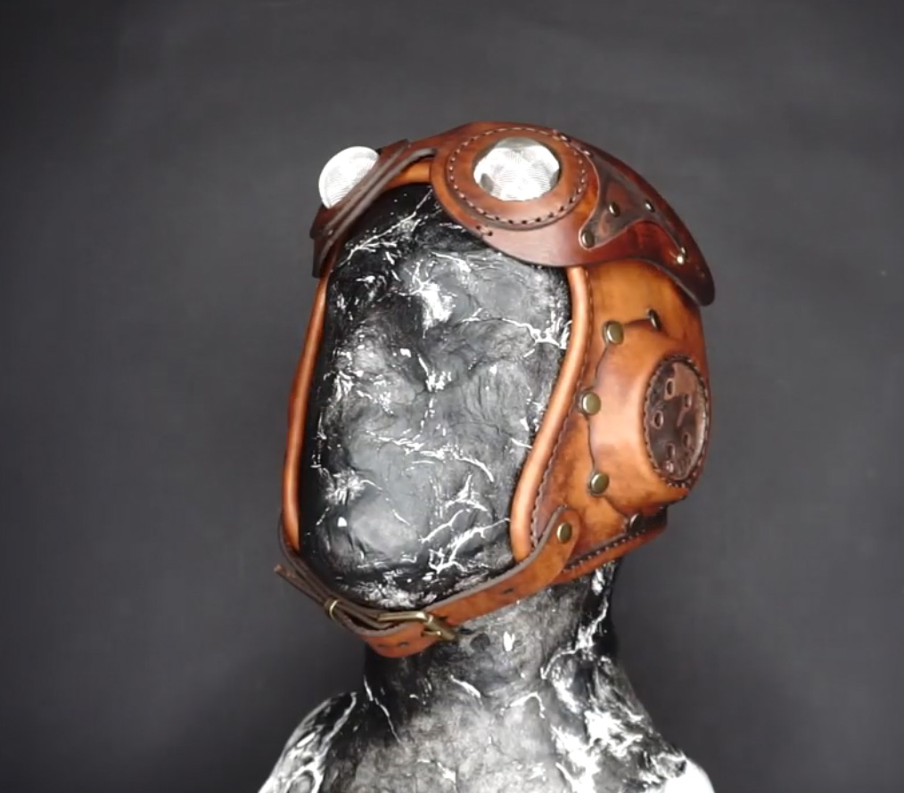 Steampunk Helmet Pilot Hat Handmade Leather Material Package Leather Diy Semi-finished Product Leather  Leather Sheet