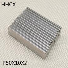 Rare Magnets 50x10x2 Moto Ndfeb Strong N35 20 for 5-10 50--10--2 50pcs/Lot