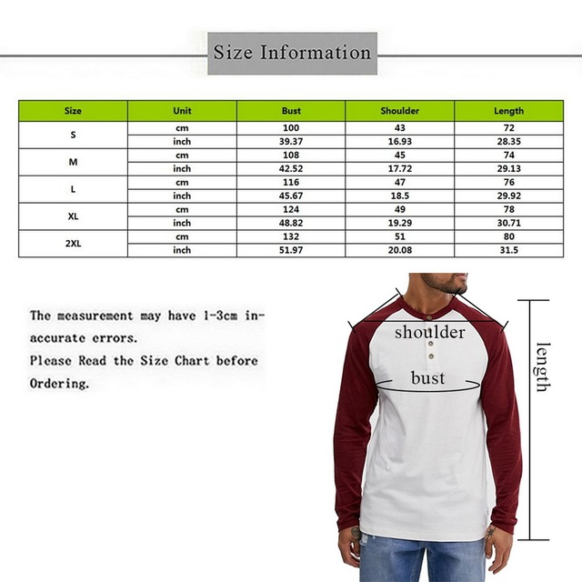 2019 New Men's T-shirts Fashion Long Sleeve Seamless O-neck Tee Shirts Patchwork Button Lightweight Jogging Workout Tee Top Male