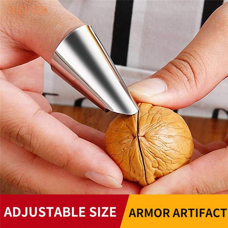 Защита для пальцев, защита для резки овощей, защита рук/Защита от артефактов бобов, защита пальцев из нержавеющей стали, гаджеты для кухонны...