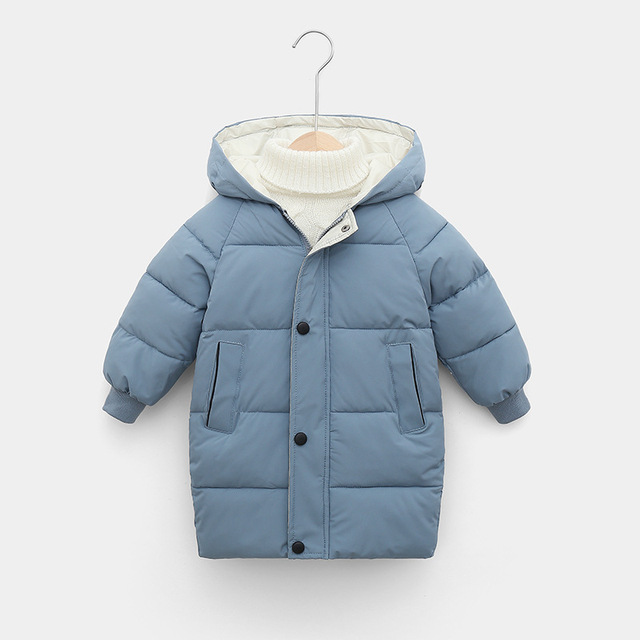 Sundae Angel Children Coat Winter Girls Down Cotton Padded Kids Hooded Solid Down Jacket For Boy Warm Child Outerwear Clothes 6