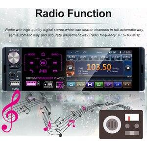 "Image 5 - Podofo 4.1 ""מגע Bluetooth רכב רדיו 1 דין Autoradio סטריאו אודיו MP5 וידאו נגן USB MP3 TF ISO ב דאש מולטימדיה נגן"