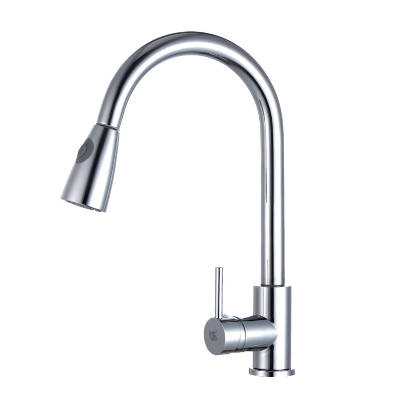 Cross Border For Conn Pulling Copper Faucet Kitchen Faucet Hot And Cold Mixing Water Washing Basin Faucet