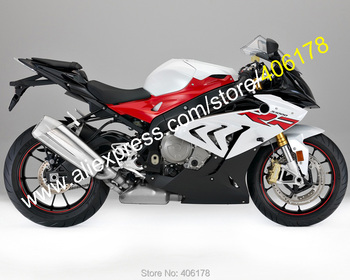 For S1000RR 2017 2018 S 1000RR 17 18 S1000 RR Red White Black Aftermarket Sportbike Bodyworks Fairings Kit (Injection molding)