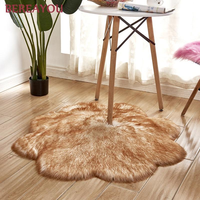 Tapis de fourrure nordique et tapis pour la maison salon chambre tapis chambre enfants chambre chaise couverture moderne tapis rond tapis chambre - 3