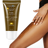 Face Body Natural Bronze Sunscreen Self Tanning Tanning Lotion Tanning Lotion Skin Lotion Darkens 50ML 4
