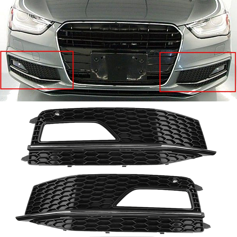 Audi A4 2012-2015 Front Bumper Fog Grille With Fog Hole Estate Driver Side New
