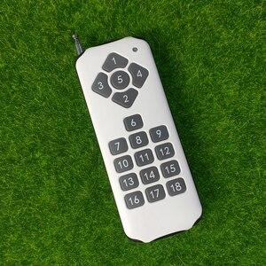 Image 5 - Interruptor remoto de relé de 18 canales y 12V CC, receptor de 18 botones, transmisor remoto de contacto RX TX, lámpara de luz, inalámbrico para casa inteligente