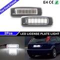 1 Pair For Ford Focus MK1 1998-2005 High Brightness White LED License Plate Light Number Plate Lamp