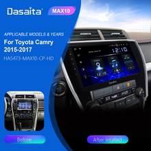 """Dasaita araba radyo 1 Din Android 10.0 Toyota Camry abd versiyonu 2015 2016 2017 DSP 10.2 """"HD dokunmatik ekran araba multimedya oynatıcı"""