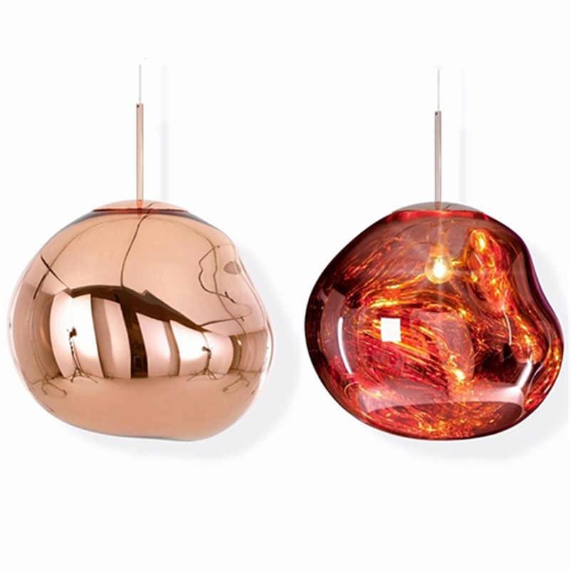 Nordic Glas LED Anhänger Lichter Beleuchtung Bar DIXON Schmelzen Lava Hängen Lampe für Wohnzimmer LOFT Anhänger Lampe Küche Zubehör