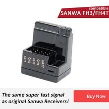AGF RC receptor de superficie de 4 canales, Compatible con Sanwa FH3/ FH4T, especial para coche y barco RC, ARX 482R