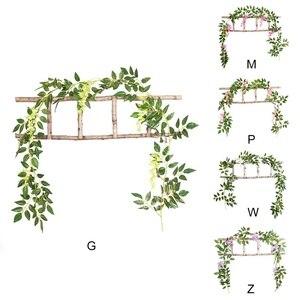 Image 5 - Diy Zijde Opknoping Eucalyptus Garland Wedding Party Simulatie Rieten Bladeren Wijnstok Decoraties