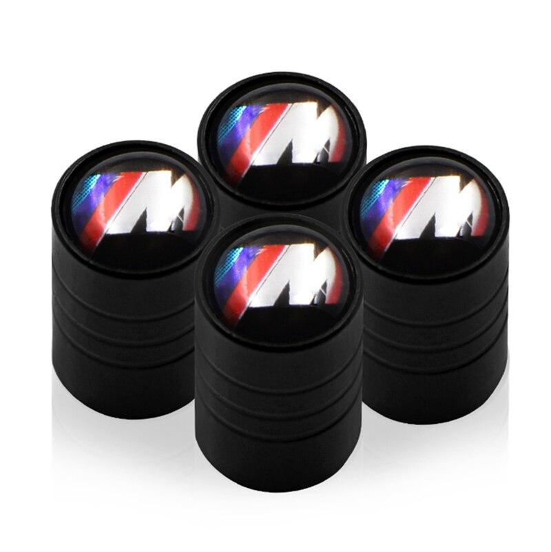 4pcs Car Tire Valve Cap Waterproof Protection Cover For Bmw M Sticker X1 X3 X4 X5 X6 X7 E46 E90 F20 E60 E39 F10 Car Accessories