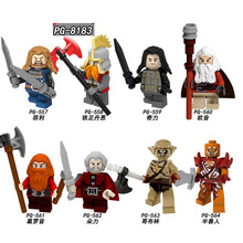 PG8183 Single Sale Building Blocks Bricks Lord Of The Rings Action Ouyin Figures Groy Goblin Model For  Children Toys DIY lord of the rings corps witch king ringwraith king of the dead army mordor action figure building blocks children legoing toys