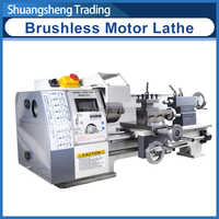 WM210V Metal Lathe/850W Brushless Motor All Steel Gear Lathe/38mm Spindle Bore Hole +125mm Chuck Mini Lathe Machine