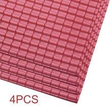 4pcs layout areia tabela folha modelo de construção acessórios construção telhas de telhado em miniatura arquitetura micro paisagem jardim