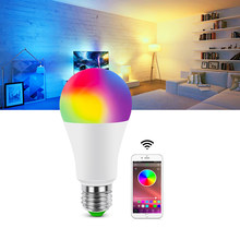 RGB RGBW RGBWW LED Neon Bulb remoter / Bluetooth 4.0 APP Music Voice Control LED light E27 Rainbow Decor Lamp for Home Holiday(China)