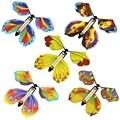 10 шт. Волшебная Летающая бабочка, заводная резиновая повязка-бабочка для детей, для мальчиков и девочек, рождественские подарки-сюрпризы, чу...