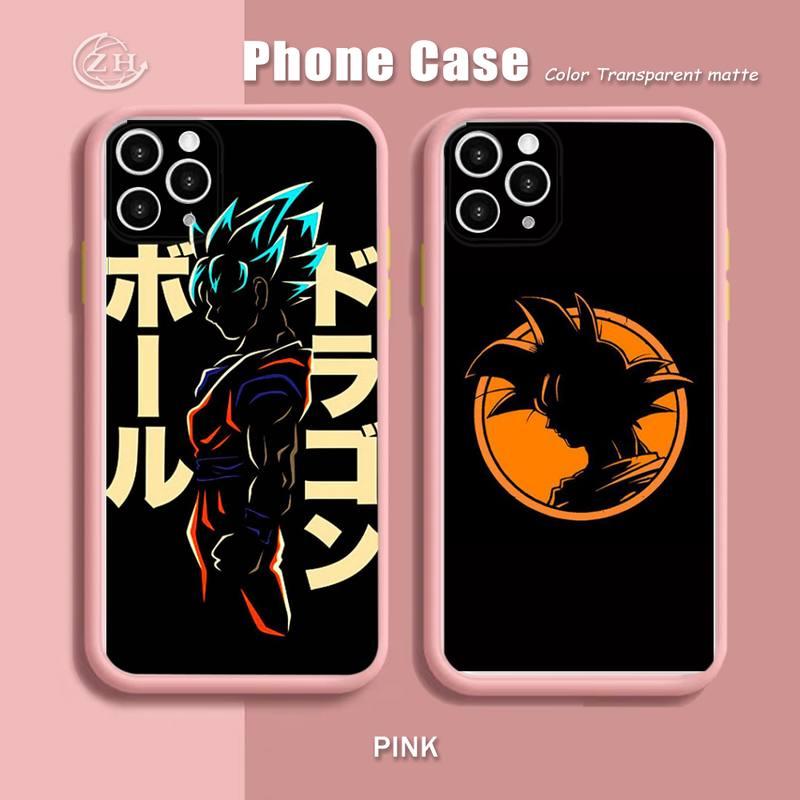 Anime Dragon DBZ Balls Phone Case For iPhone 12 Mini 11 Pro Max X XR XS Max 7 8 Plus Soft Bumper Transparent Matte PC Back Cover