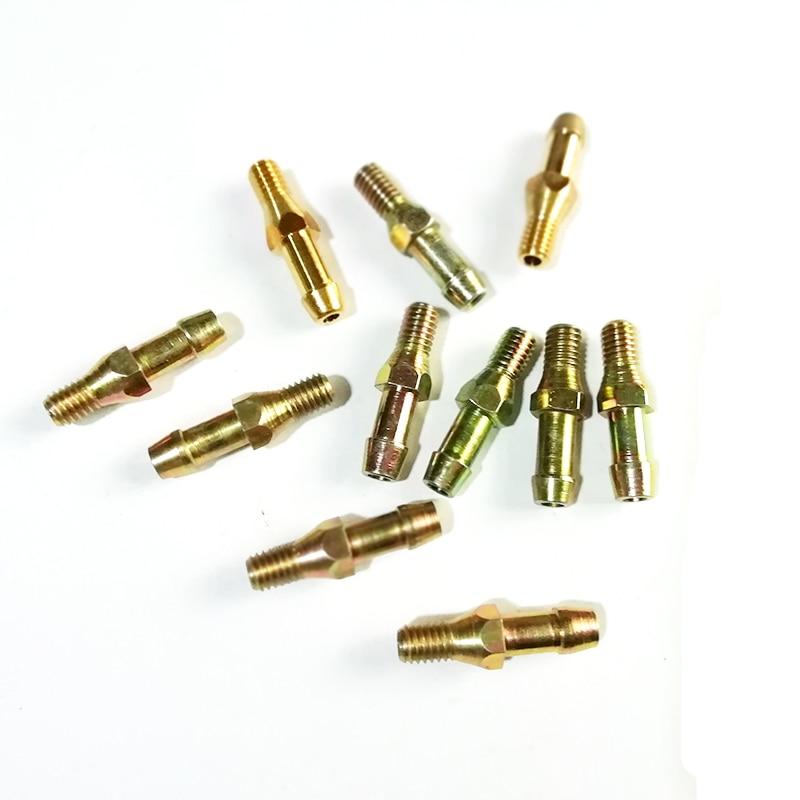 10pcs M6 CNG Injector Rail Cylinder Intake Head CNG Pressure Reducer Inlet Head Reducer Injector Rail To Cylinder Intake Member