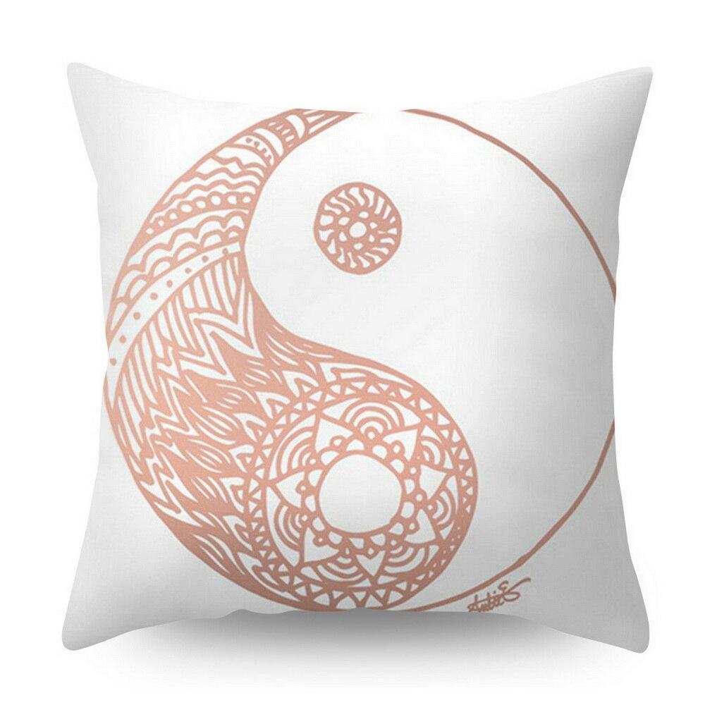 Розовое золото квадратная подушка крышка с геометрическим рисунком сказочной подушка чехол полиэстер декоративная наволочка для подушки для домашнего декора размером 45*45 см - Цвет: Фиолетовый