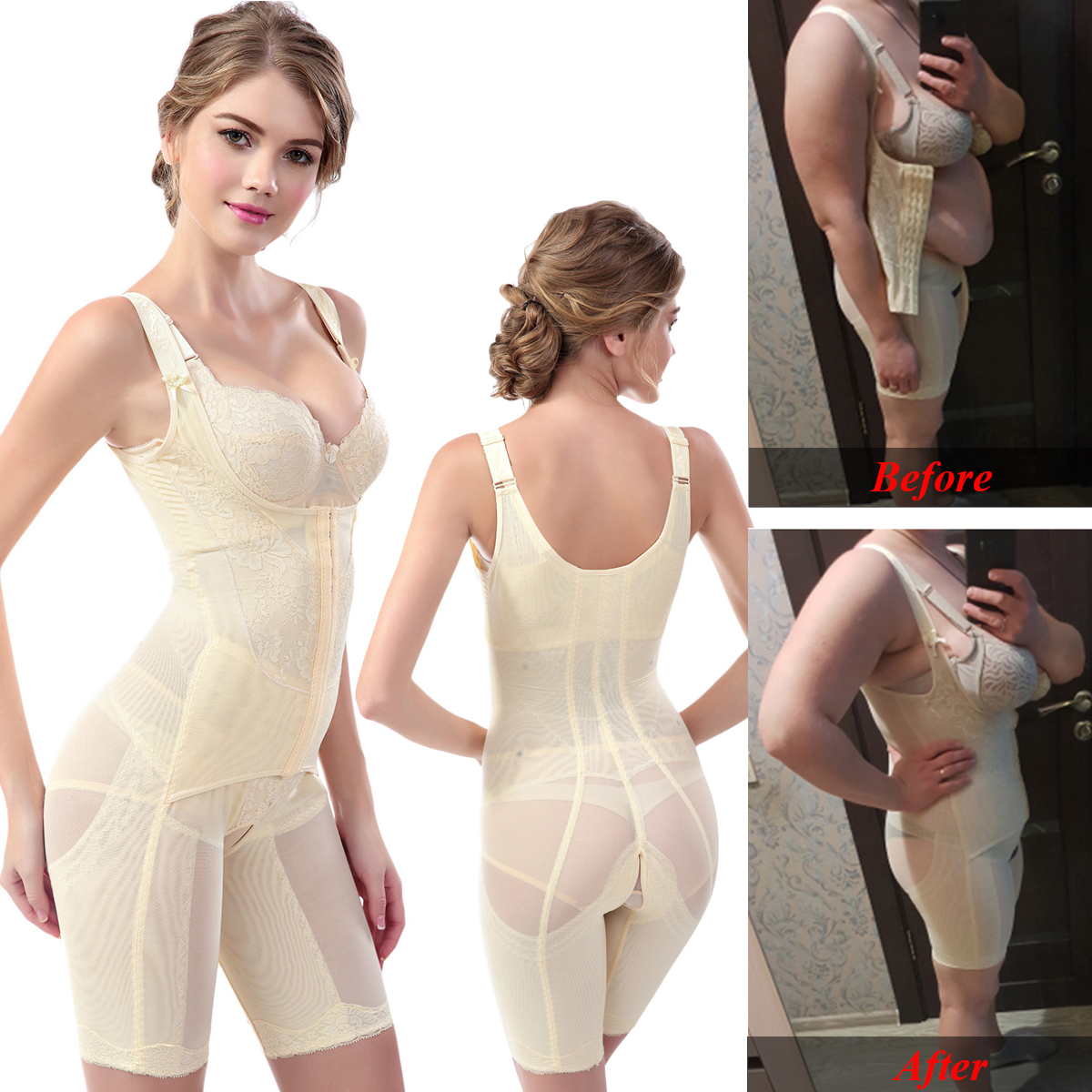 Full Body Shaper Shapewear Women Modeling Strap Tummy control Slimming Underwear Seamless Waist Shaper Shaping Butt Lifer Corset