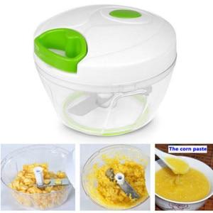 Image 3 - 500ml Manuellen Küchenmaschine Schredder Gemüse Fleisch Chopper Slicer Fleischwolf Werkzeug