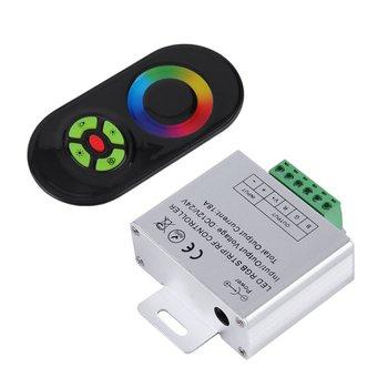 Nowy dotykowy kontroler RGB DC12V 24V bezprzewodowy kontroler LED RF Panel dotykowy LED ściemniacz RGB pilot tanie i dobre opinie CN (pochodzenie) RF Touch Panel Wireless Remote ZK630601 RGB LED 24 v RGB Controler piece 0 172kg (0 38lb ) 20cm x 15cm x 15cm (7 87in x 5 91in x 5 91in)