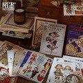 1 Набор блокнот Липкие заметки антикварная картина книга мусор бумага для журнала дневник в стиле Скрапбукинг наклейки офисные школьные ка...