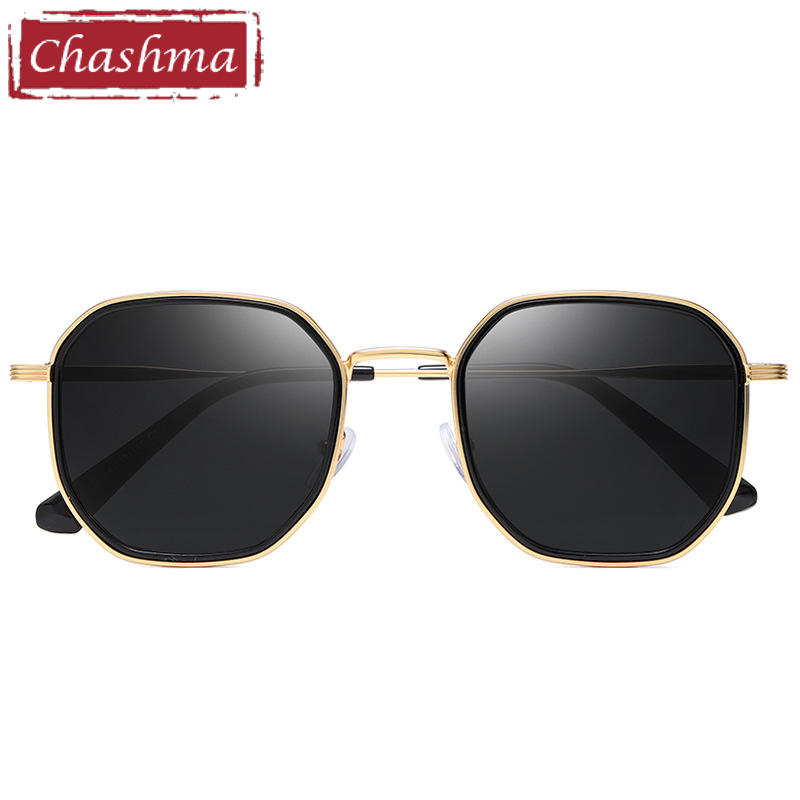 Sun Glasses Women Driving Polarized Prescription Sunglasses Square Irregular Dark Lenses UV Protection Gafas
