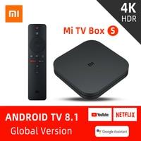 Xiao mi mi TV Box S avec Version globale 4K HDR Android 8.1 2G 8G WIFI Google Cast Netflix décodeur intelligent 4 lecteur multimédia|Décodeurs TV| |  -
