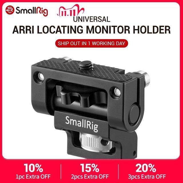Smallrig デュアルカメラモニターホルダー evf サポートマウントスイベルモニターマウント arri と位置決めピン 2174