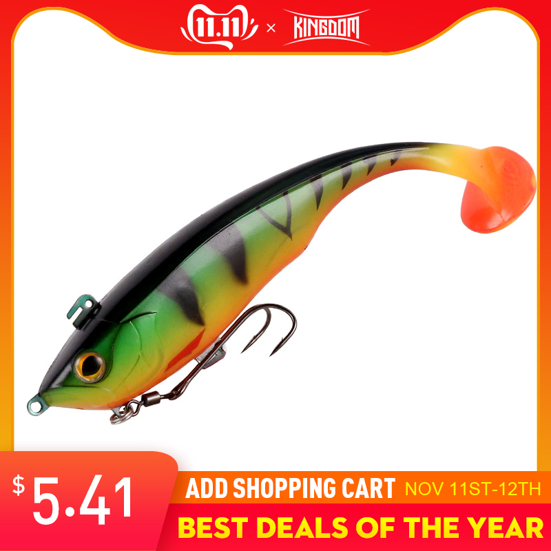 Kingdom 2019 New Soft Baits Swim Shad Double Hook Fishing Lures 170mm 55g Saltwater Swimbait Good Action Lure