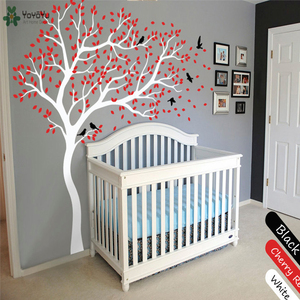 Image 2 - Wall Decal Vinyl Sticker White Tree Large Tree Wall Decor Desgin Color Wall Mural Nursery Kid Room Bedroom Playroom PosterWW 340