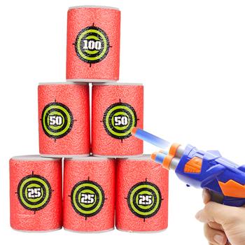 6 sztuk kule cel dla zabawka Nerf Gun strzelanie cel dzieci strzał gry cel dzieci zabawki do zabawy na zewnątrz akcesoria tanie i dobre opinie CN (pochodzenie) Toy Gun Target Unisex Mini Akcesoria do karabinów zabawkowych