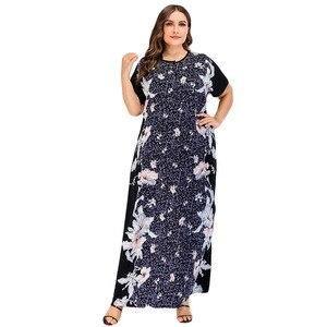 Мусульманское платье Abaya в Дубае, женское платье, халат, марокканский кафтан, турецкое, Пакистан, абайя, джилбаб размера плюс, мусульманская ...