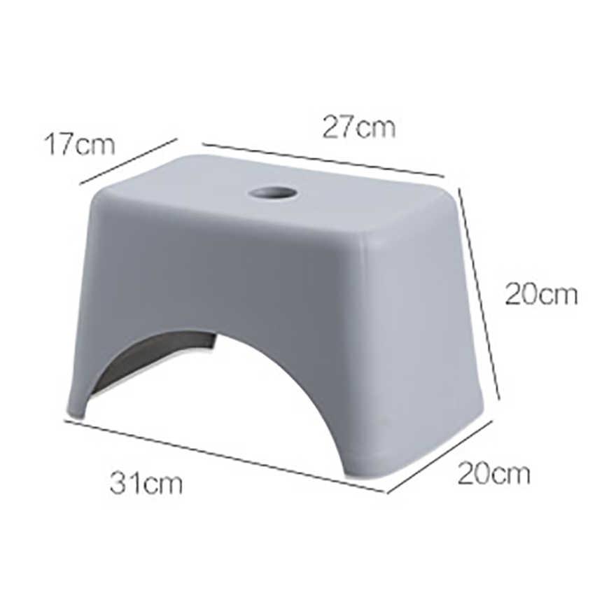 พลาสติกสตูลแบบพกพาน้ำหนักเบาเด็กเด็กStoolเก้าอี้ขนาดเล็กลื่นสั้นสตูลสำหรับห้องครัวห้องน้ำห้องนอน