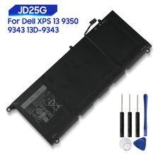 Оригинальная сменная батарея для dell xps 13 9350 9343 13d jd25g