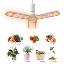 Led Grow Light 150W Warm Light Full Spectrum Plant Light Double Lamp Bulbs Plant Chandelier For Indoor Plant Hydroponic Growing