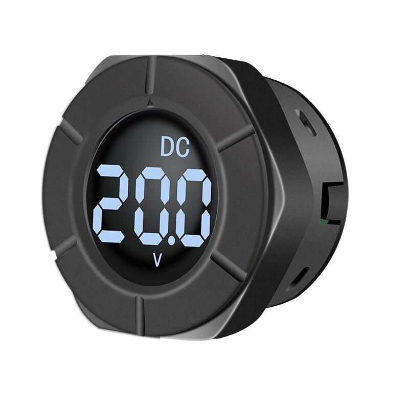 Peacefair New Arrival DC Digital Voltmeter Round LCD Display 0-300V Car Voltage Monitor Volt Panel Meter PZEM-019V