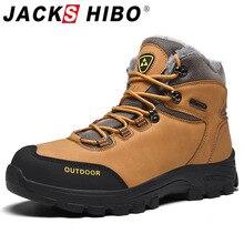 Jackshibo Warm Fur Lining Ankle Boots Shoes For Men Waterpro
