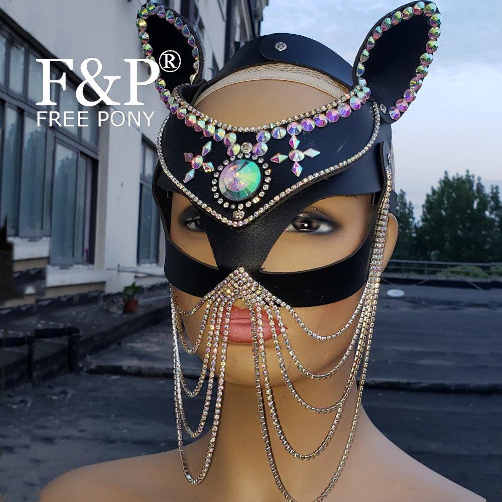 bandeau Sequin Masque de Chat masque de mascarade de Halloween Déguisements Cat Woman