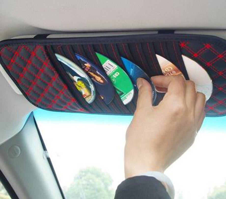 Sun Visor Auto Car Sunshade Sun Visor CD Card Glasses Holder tiguan Organizer Bag Cars Kit Gadget Vehicle Parts