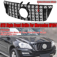 Car Front Grill For Mercedes For Benz ML Class W164 X164 GT Grille 2005 2011 ML300 ML320 ML350 ML400 ML500 ML430 Without Emblem