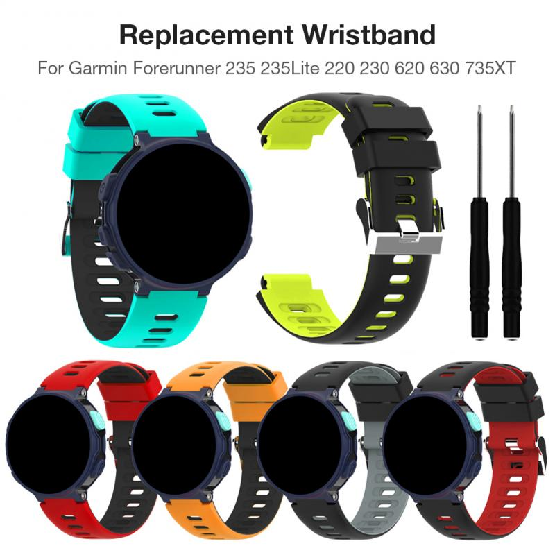 For Garmin Forerunner 235 Watchband For 235Lite 220 230 620 630 735XT Watch Quick Release Silicone Easy Fit Wrist Band Strap