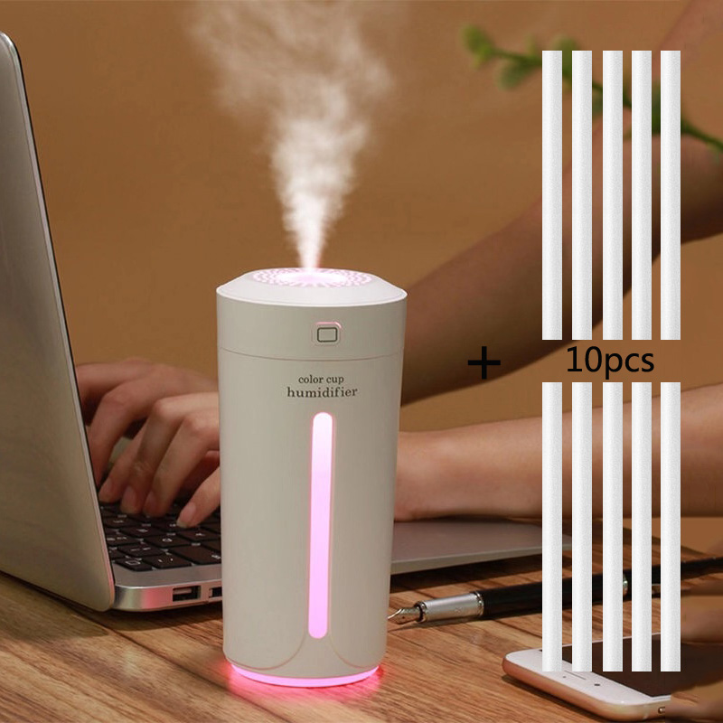 230ML Air Humidifier Eliminate Static Electricity Clean Air Care For Skin Nano Spray Technology Mute 7 Color Lights Car Office